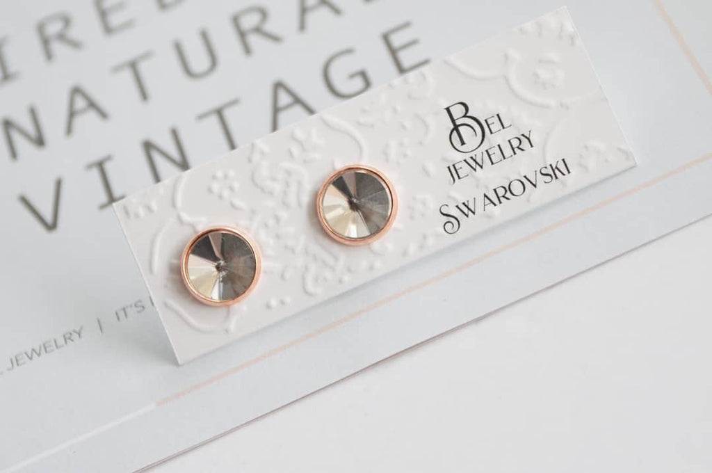 14mm Swarovski Stud Earrings