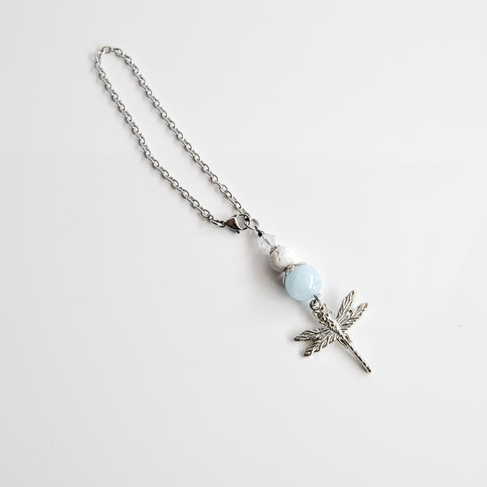 """Aquamarine"" & Dragonfly Car Diffuser"