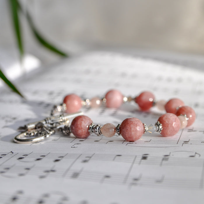 "Rose ""Jade"" Boutique Bracelet in Silver"