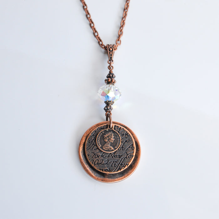 Swarovski Coins Necklace in Copper