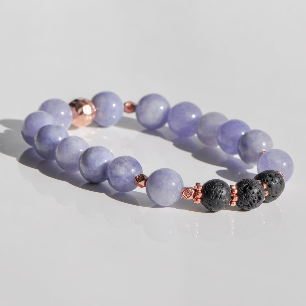 Quartz Diffuser Bracelet in Rose Gold (10mm gemstone)