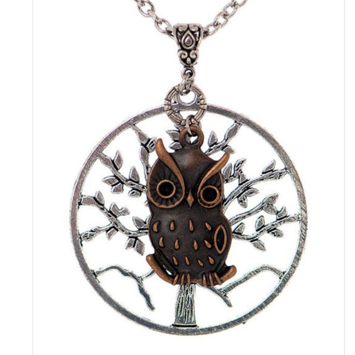 Owl & Tree of Life Necklace