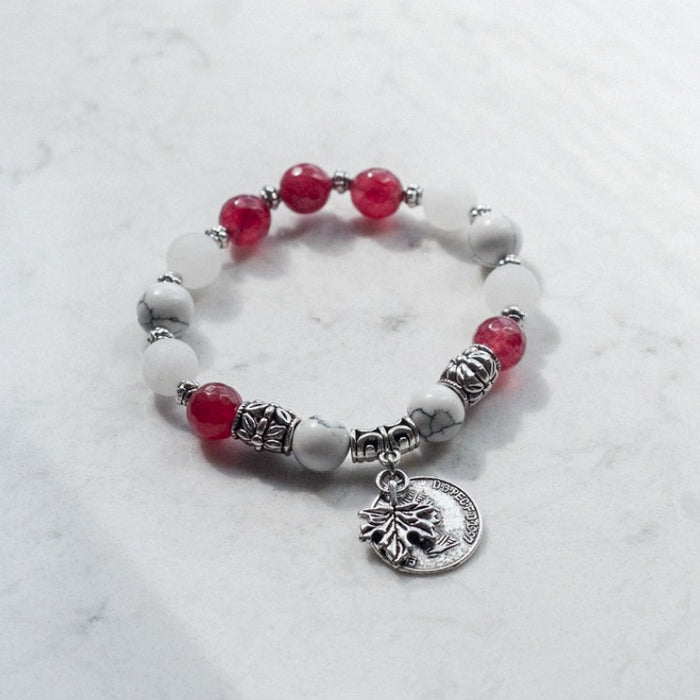 Canadian-Inspired Gemstone Bracelet