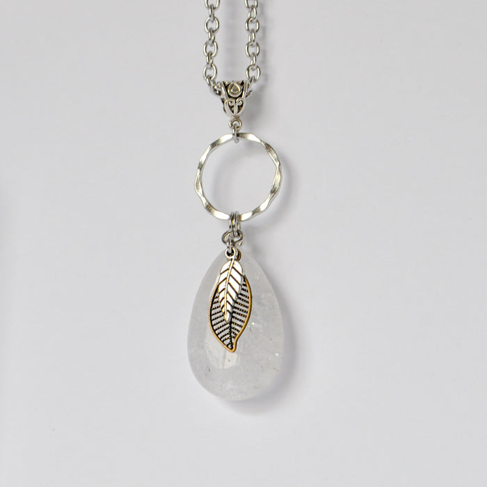 Quartz & Leaves Necklace