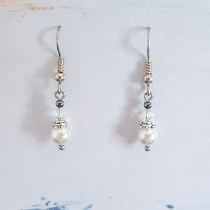 Swarovski Pearl & Crystal Vintage Earrings