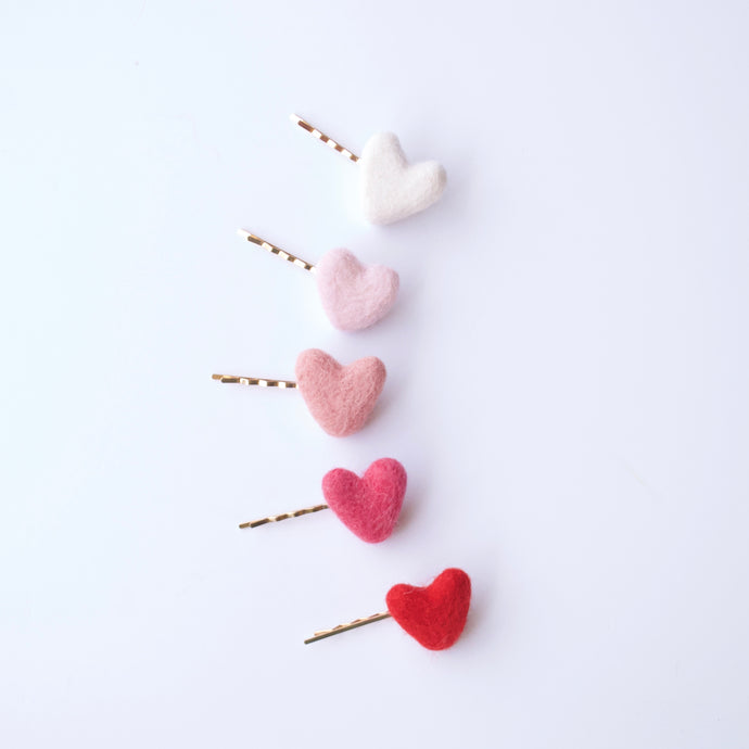 Bitty Felted Hearts
