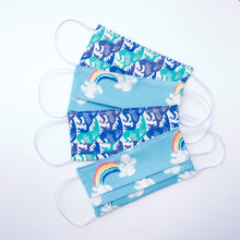 Blue Rainbow Reversible Face Mask
