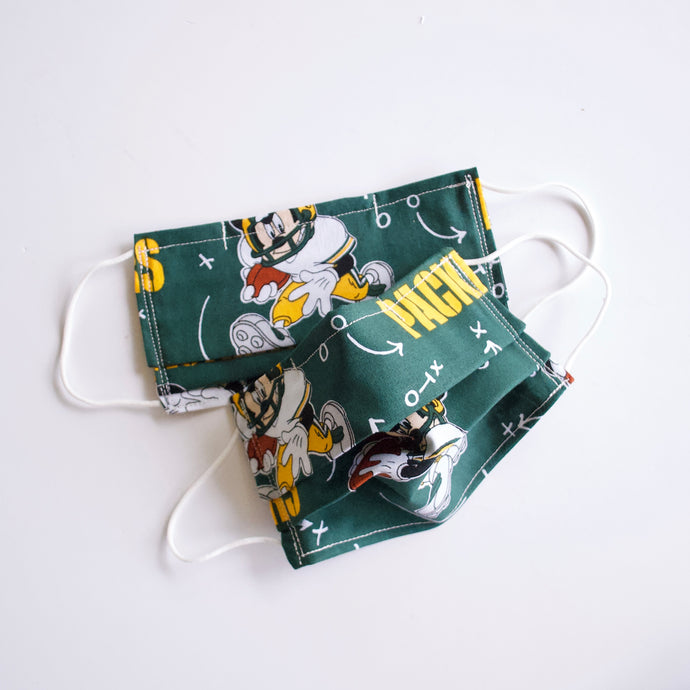 Packers Mickey Face Mask with Adjustable Nose Wire