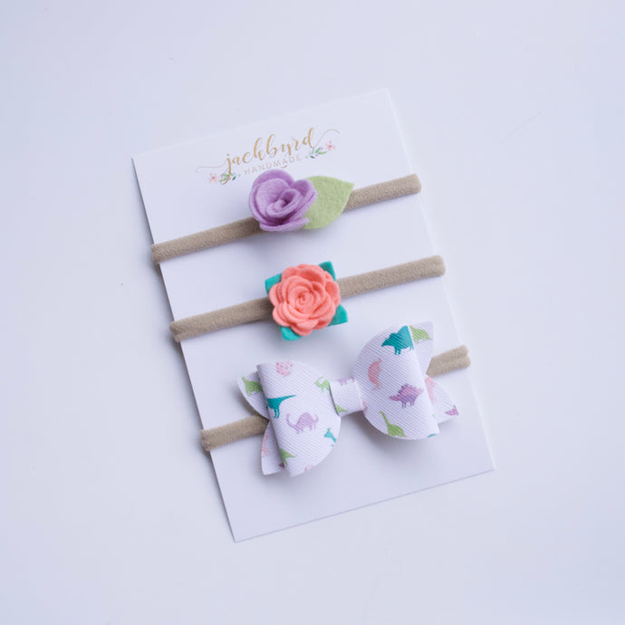 Pastel Dinos Gift Pack Bows