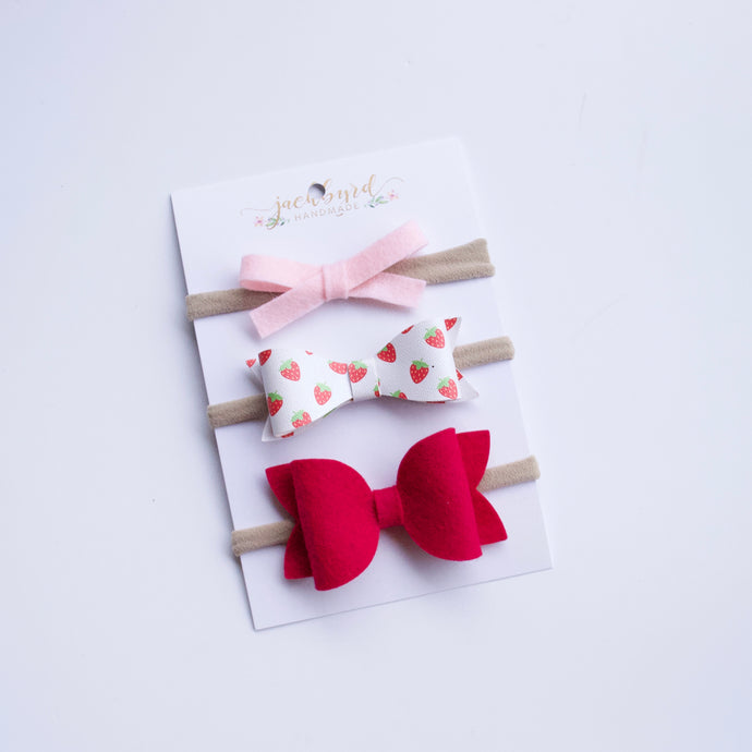 Gift Pack Bows: Summer Strawberries