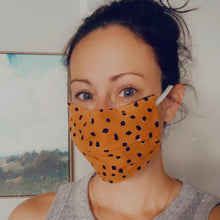 Wildwood Navy Rifle Paper Co. Face Mask / Optional Nose Bridge