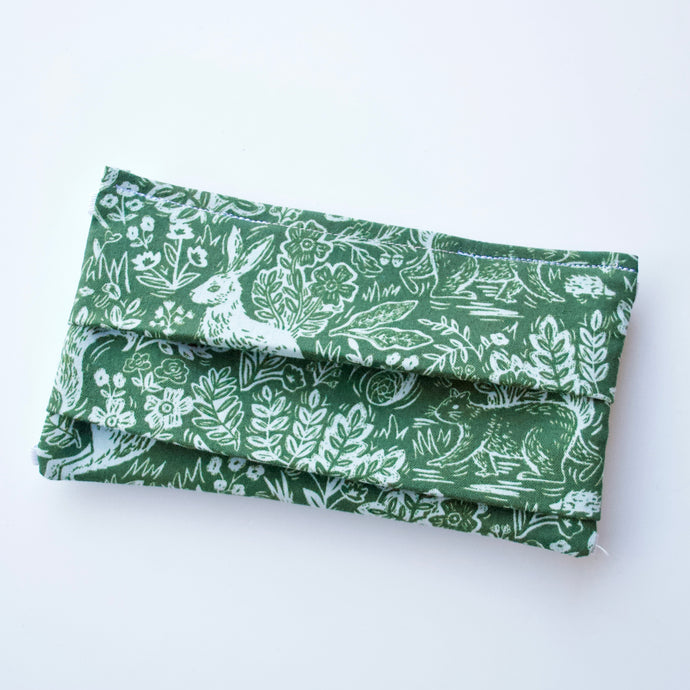 Fable Green Rifle Paper Co. Face Mask / Optional Nose Bridge