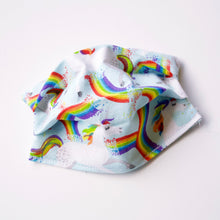 Rainbow Unicorns Face Mask / Optional Nose Bridge