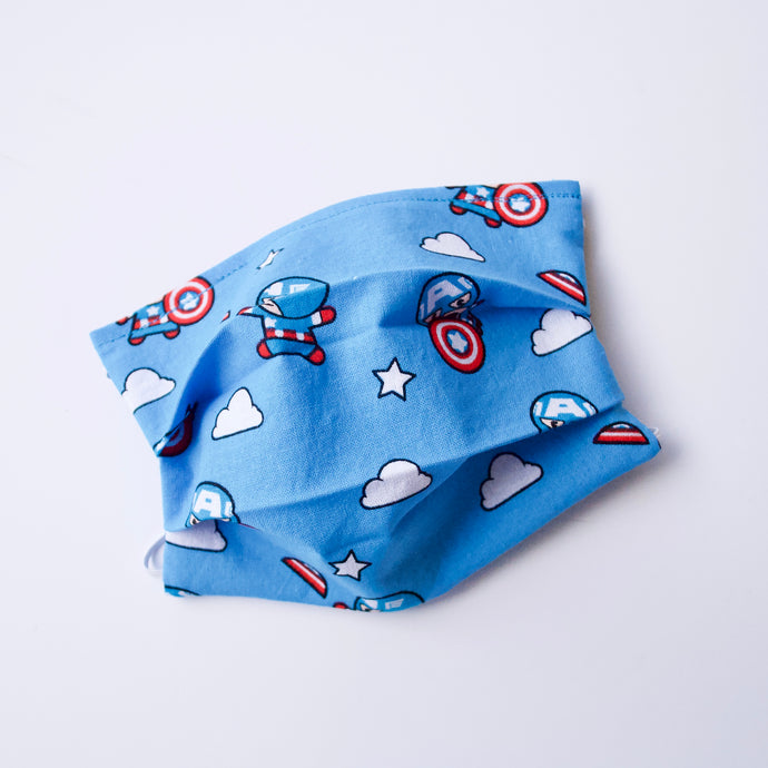 Marvel Comics Kawaii Captain America Face Mask / Optional Nose Bridge