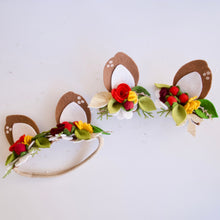 Darling Deer Ears Floral Headband or Clips