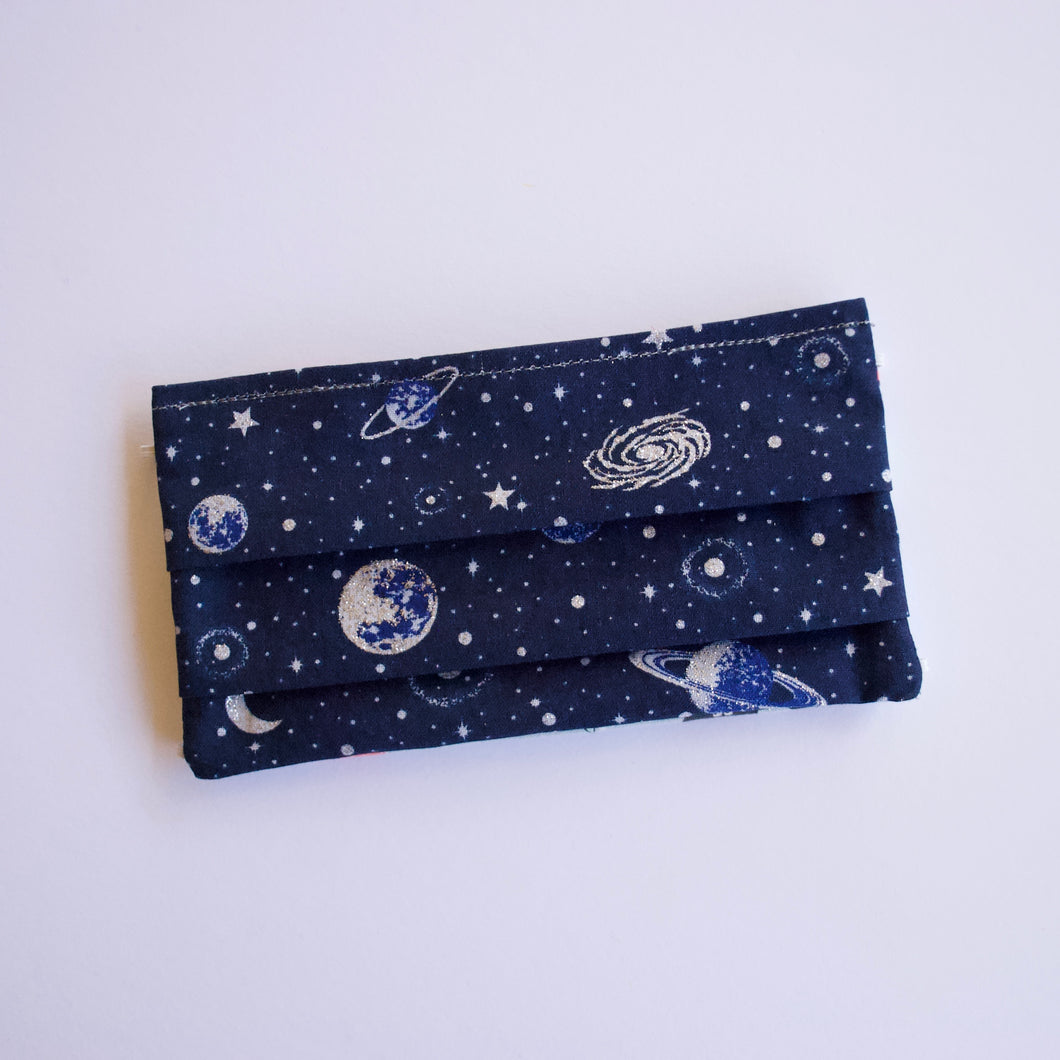 Navy Outer Space Face Mask