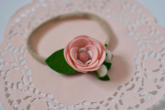 Baby Pink Floral Headband