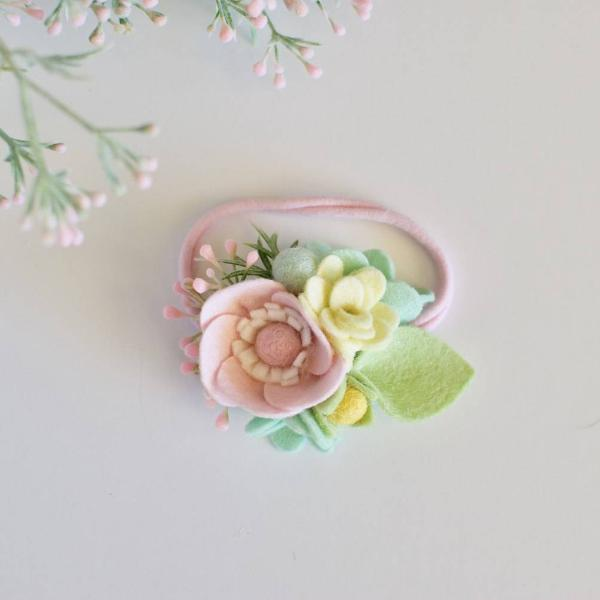 Pastel Mini Felt Flower Crown