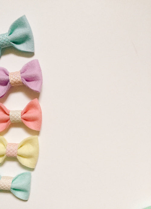 Mermaid Felt Bows