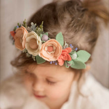 Peach + Ivory Floral Crown