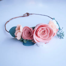 Peony Peach + Pink Full Floral Crown