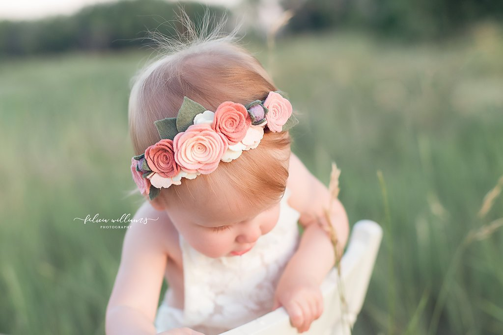 Blush + Peach Floral Crown