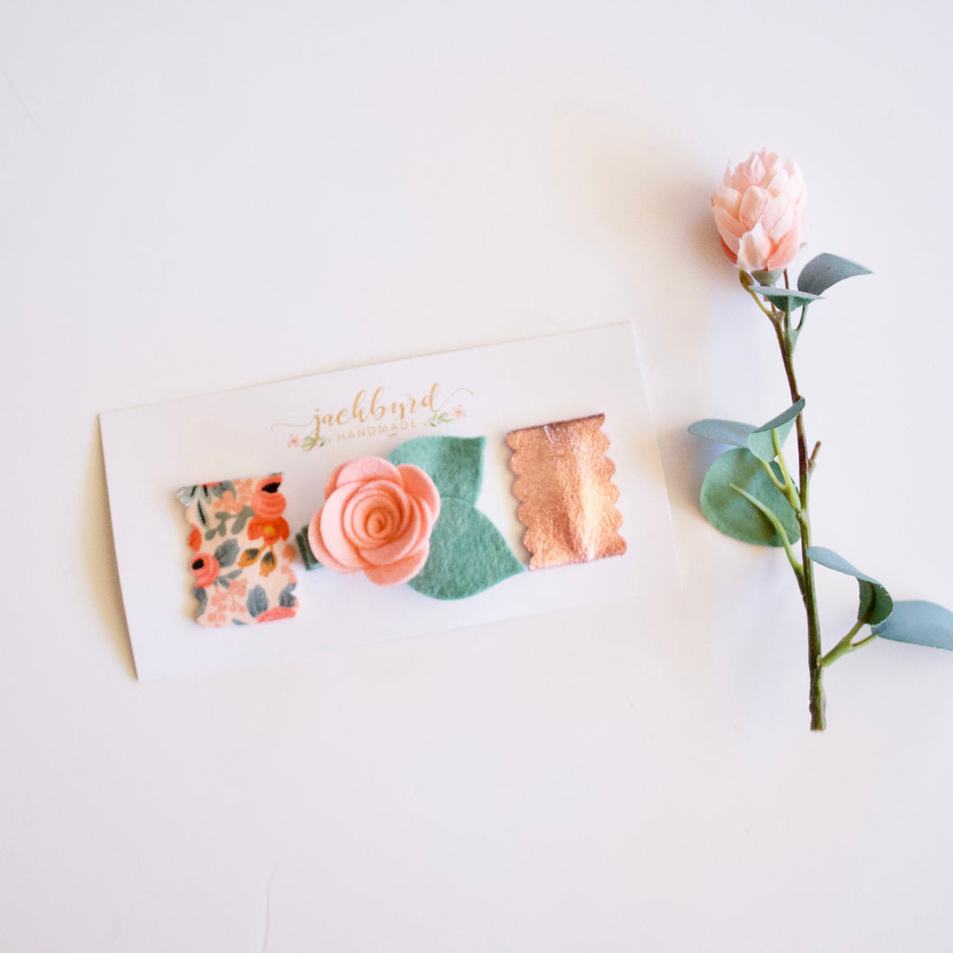 Rifle Paper Company Scalloped Snap Clip Set