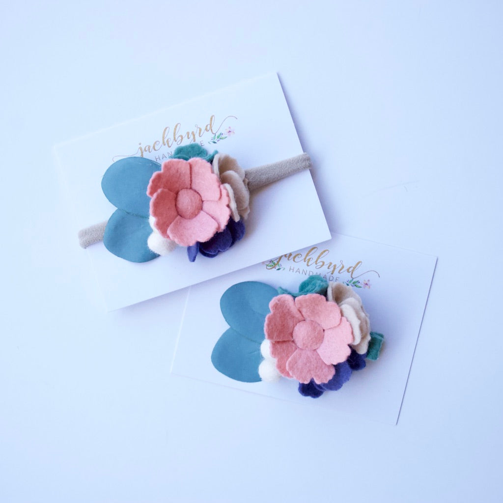 Fall Blush Felt Floral Headband