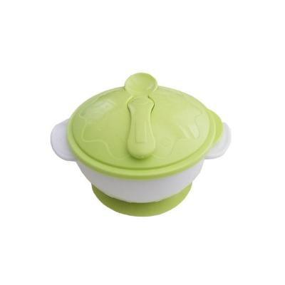 Suction Bowl with Lid and Spoon