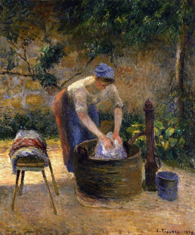 the laundry woman camille pissarro