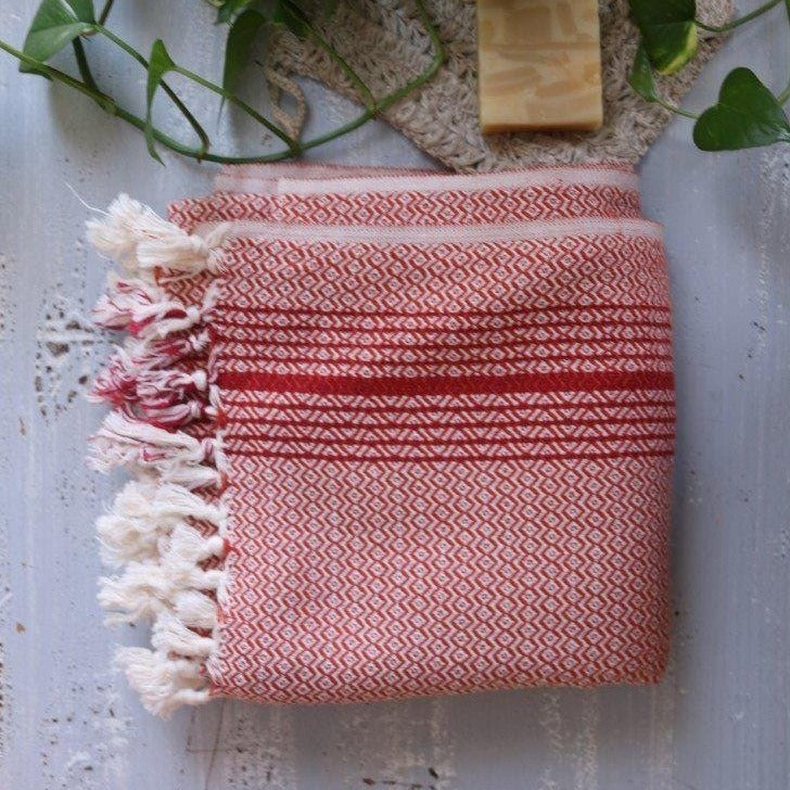 MATIA Handwoven Blanket Scarf Red