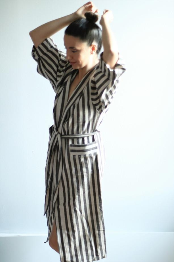 ADAM Handwoven Robe-Robe-Anatoli.co-Small-Black-Anatoli.co
