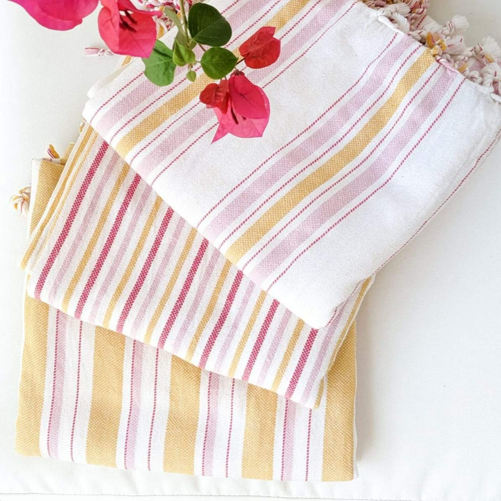BOHO MUSTARD Turkish Towel - anatolico