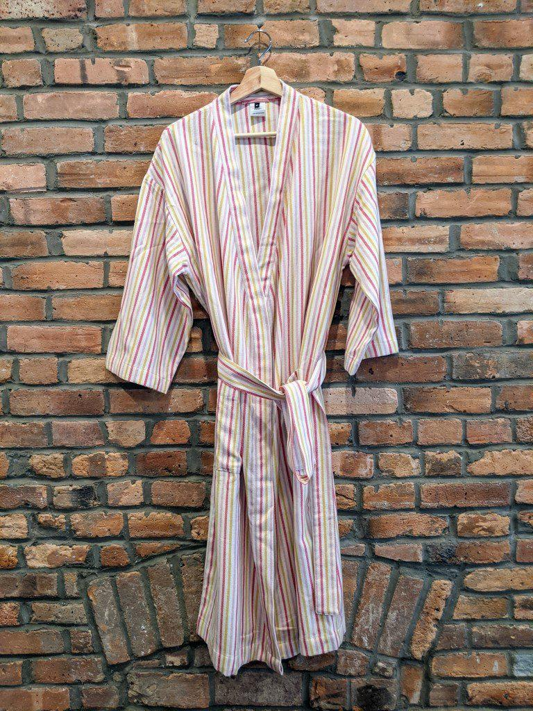 BOHO STRIPES Handwoven Robe - anatolico