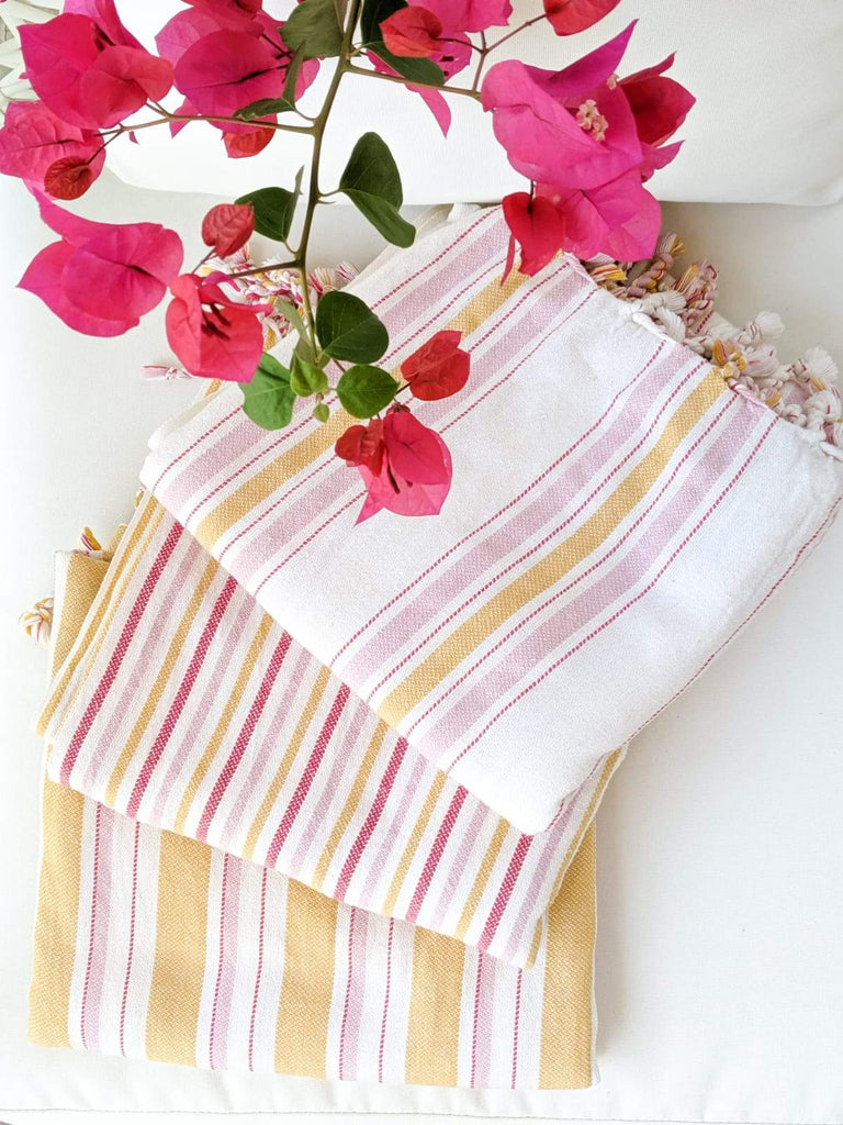 BOHO STRIPES Handwoven Towel - anatolico