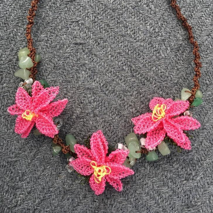 DAISY Handmade Necklace-Accessories-Anatoli.co-Pink-Anatoli.co