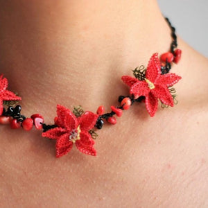 DAISY Handmade Necklace-Accessories-Anatoli.co-Red-Anatoli.co