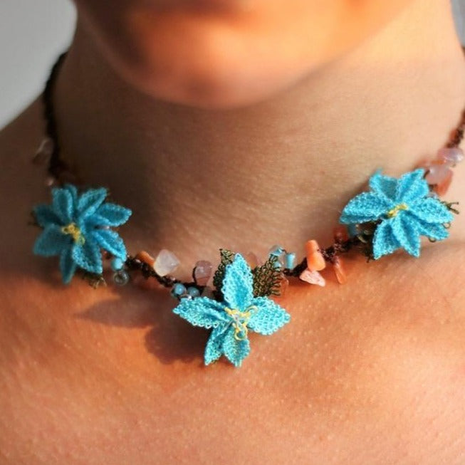 DAISY Handmade Necklace-Accessories-Anatoli.co-Turquoise-Anatoli.co