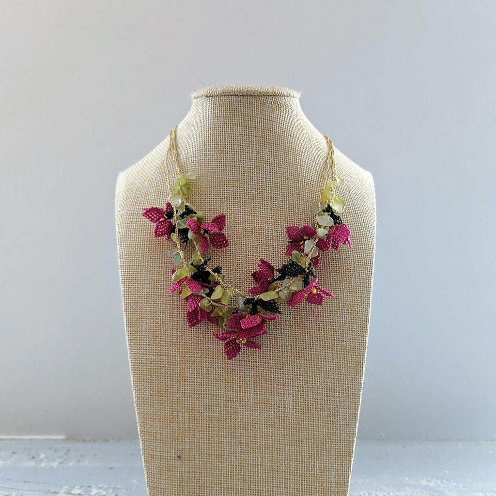 DALIA Crochet Necklace Fuschia - anatolico