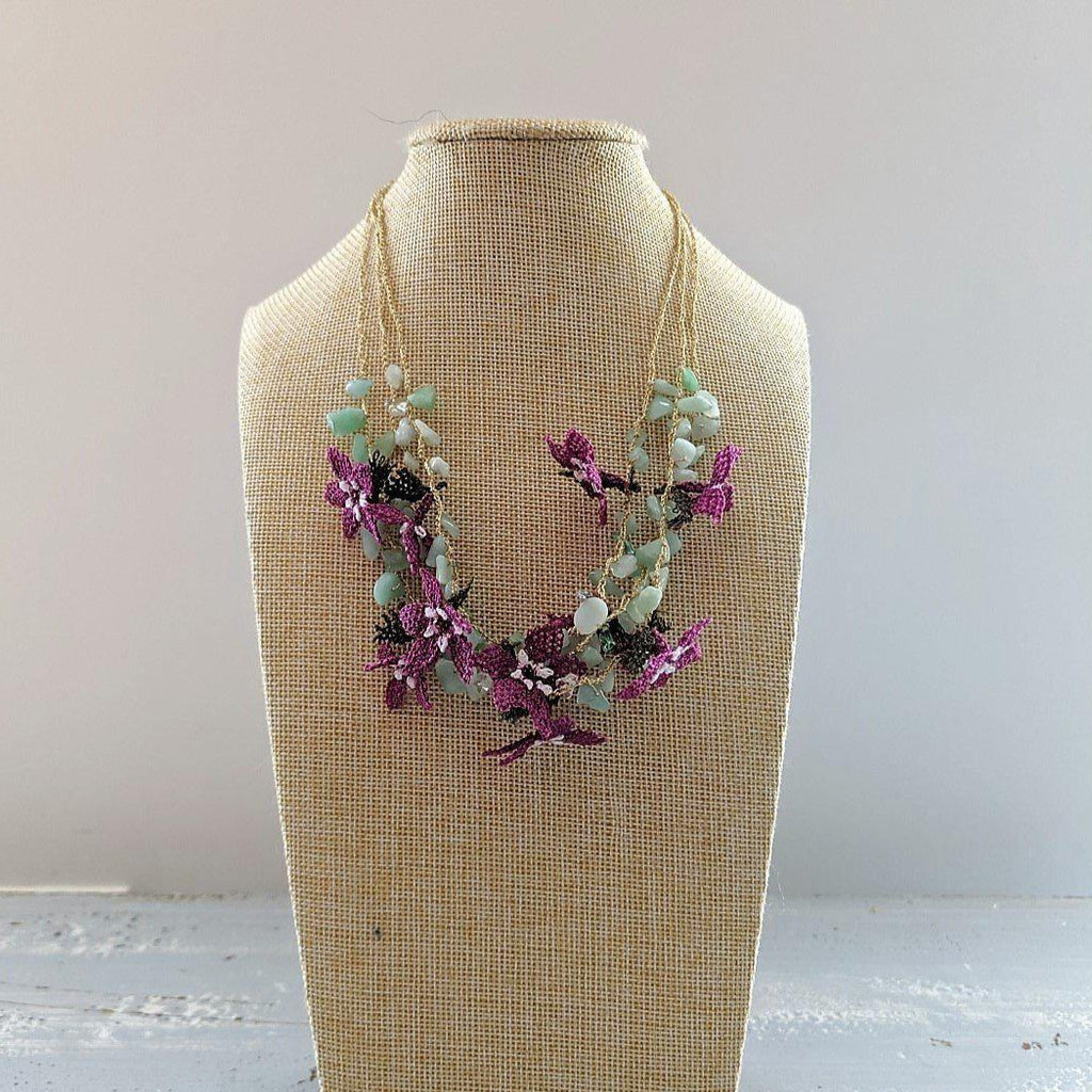 DALIA Crochet Necklace Purple - anatolico