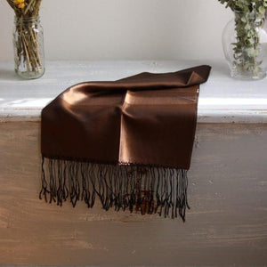 IRIS Silk Scarf-Scarf-Anatoli.co-Brown on black-Anatoli.co
