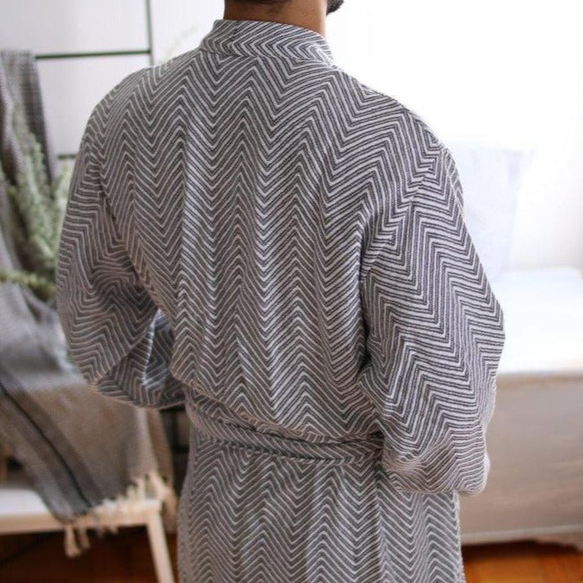 KARIA Handwoven Robe-Robe-Anatoli.co-White-Small-Anatoli.co