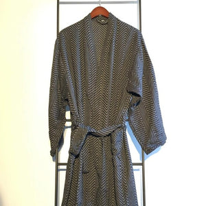 KARIA Handwoven Robe-Robe-Anatoli.co-Black-Small-Anatoli.co