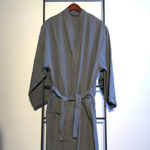 KARIA Handwoven Robe-Robe-Anatoli.co-Gray-Small-Anatoli.co