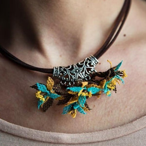 LILY Handmade Necklace-Accessories-Anatoli.co-Brown-turqoise-Anatoli.co