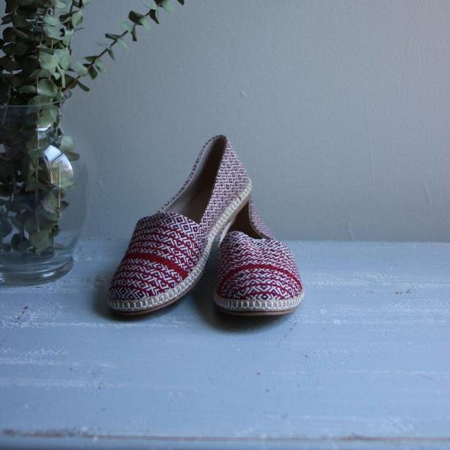 MATIA Espadrilles-Shoes-Anatoli.co-36-Maroon - red stripe-Anatoli.co