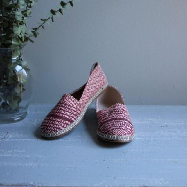 MATIA Espadrilles-Shoes-Anatoli.co-36-Red - black stripe-Anatoli.co