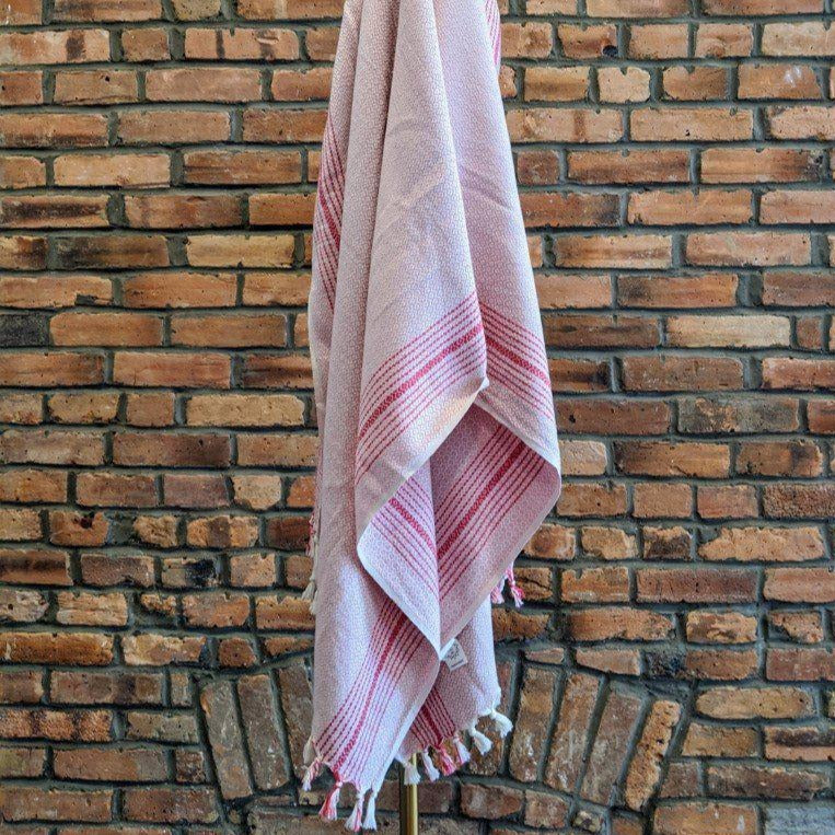MATIA Handwoven Blanket Scarf Pink - anatolico