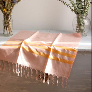 STRIPES Silk Scarf-Scarf-Anatoli.co-Pink, orange stripes-Anatoli.co