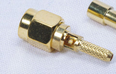 10 Lot Antenna Cable Connector SMA MALE Crimp RG-174 316 LMR-100 Gold Plated